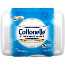KCC 36734 Kimberly-Clark Cottonelle Flushable Wet Wipes KCC36734