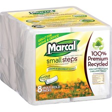 MRC 0672902 Marcal 100% Recycled Multi-Fold Paper Towels MRC0672902