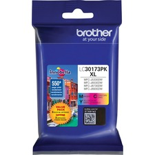 Brother Innobella LC30173PKS Original Ink Cartridge - Value Pack - Cyan, Magenta, Yellow - Inkjet - High Yield - 550 Pages Yellow, 550 Pages Magenta, 550 Pages Cyan - 3 / Pack