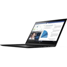 "Lenovo ThinkPad X1 Yoga 20JD0022US 14"" Touchscreen LCD 2 in 1 Ultrabook - Intel Core i5 (7th Gen) i5-7200U Dual-core (2 Core) 2.50 GHz - 8 GB LPDDR3 - 180 GB SSD - Windows 10 Pro 64-bit (English) - 1920 x 1080 - In-plane Switching (IPS) Technology - Black"