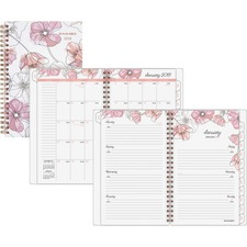 AAG1041200 - At-A-Glance Blush Weekly/Monthly Planner