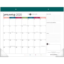 AAGD6099704 - At-A-Glance Harmony Colorful Monthly Desk Pad