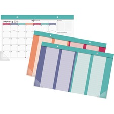 AAG D6099705 AT-A-GLANCE Harmony Colorful Desk Calendar Pad AAGD6099705