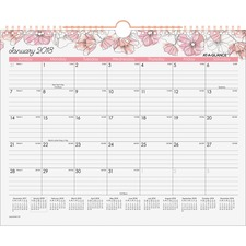 AAGW1041707 - At-A-Glance Blush Monthly Wall Calendar