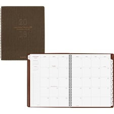 AAGYP90014 - At-A-Glance Signature Collection Monthly Planner, Olive Green