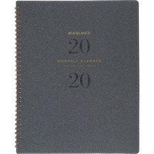 AAGYP90045 - At-A-Glance Signature Collection Monthly Planner, Gray
