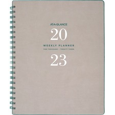 AAGYP90508 - At-A-Glance Signature Collection Weekly/Monthly Planner, Gray