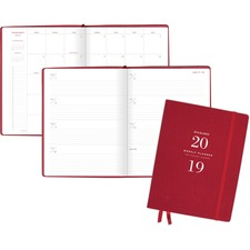 AAGYP90510 - At-A-Glance Signature Collection Weekly/Monthly Planner, Red