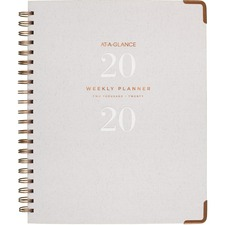 AAGYP90512 - At-A-Glance Signature Collection Hardcover Weekly/Monthly Planner, Gray