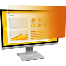 """3M Gold Privacy Filter for 17"""" Standard Monitor (GF170C4B) Gold, Glossy - For 17"""" Monitor - 5:4 - 1 Pack"""