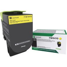 LEX71B1HY0 - Lexmark Toner Cartridge - Yellow