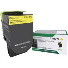 Lexmark Original Toner Cartridge - Yellow - Laser - 2300 Pages