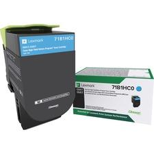 LEX71B1HC0 - Lexmark Toner Cartridge - Cyan