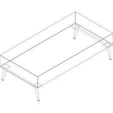 AROH60K8W1 - Arold Rectangular Bench