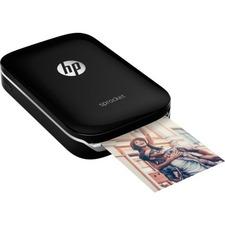 HP Sprocket Zero Ink Printer - Color - Photo Print - Portable - Black - 313 x 400 dpi - Bluetooth - Wireless LAN - USB - Battery Included