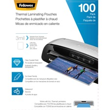 FEL 5743301 Fellowes 3mil Thermal Laminating Pouches FEL5743301