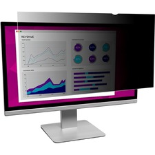 """3M High Clarity Privacy Filter Black, Glossy - For 21.5"""" Widescreen Monitor - 16:9 - Scratch Resistant, Dust Resistant"""