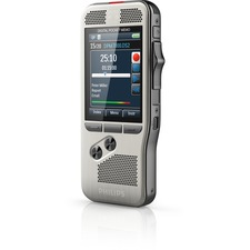 """Philips Pocket Memo Voice Recorder DPM7000 - 16 GBSD, SDHC Supported - 2.4"""" LCD - MP3, DSS, WAV - Headphone - 700 HourspeaceRecording Time - Portable"""