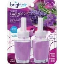 BRI 900270 Bright Air Sweet Lavender/Violet Oil Warmer Refill BRI900270