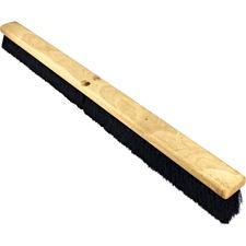 "Genuine Joe Hardwood Block Tampico Broom - Tampico Fiber Bristle - 36"" (914.40 mm) Overall Length - 1 Each"