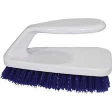 "Genuine Joe Iron Handle Scrub Brush - 6.25"" (158.75 mm) Overall Length - Iron Handle"