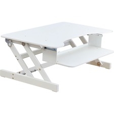 "Lorell Adjustable Desk/Monitor Riser - 16"" (406.40 mm) Height x 32"" (812.80 mm) Width x 21"" (533.40 mm) Depth - Desktop - White"