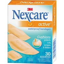 MMM 51630PB 3M Nexcare Active Waterproof Bandages MMM51630PB