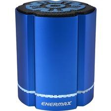Enermax STEREOSGL EAS02S-BL Speaker System - 4 W RMS - Wireless Speaker(s) - Battery Rechargeable - Blue