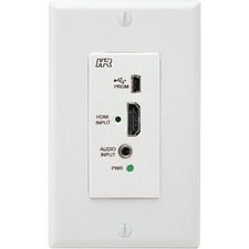 Hall Research HDMI Input Wall Plate for VSA Series w/Audio Extraction + Audio Input