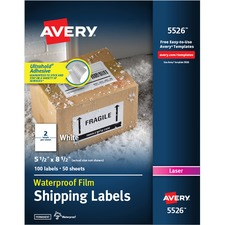 AVE95526 - Avery&reg WeatherProof Mailing Labels with TrueBlock Technology