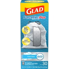 CLO 78913 Clorox Glad Kitchen Pro 20-gal Drawstring Bags CLO78913