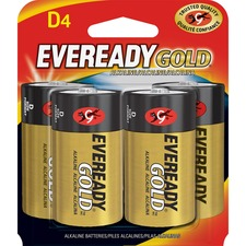 EVE A95BP4CT Energizer Eveready Gold Alkaline D Batteries EVEA95BP4CT