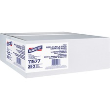 Genuine Joe Food Storage Bags - 3.79 L - 1.75 mil (44 Micron) Thickness - Clear - 250/Box - Food, Beef, Vegetables, Seafood, Poultry