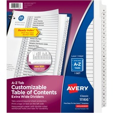 AVE11166 - Avery&reg Extra Wide A-Z Tabs Ready Index Dividers