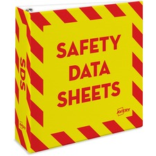 AVE 18952 Avery Safety Data Sheets Binder AVE18952
