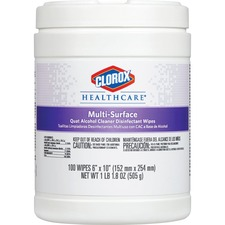 CLO 31335 Clorox Quat Alcohol Cleaner Disinfectant Wipes CLO31335