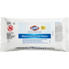 CLO 31469 Clorox Healthcare Bleach Germicidal Wipes CLO31469