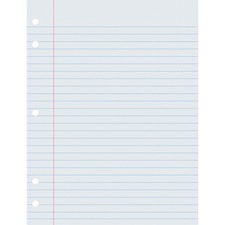 PAC 3201 Pacon 5-hole Punched Notebook Filler Paper PAC3201