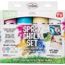 RST 306006 Rust-Oleum Testors 4-color Spray Chalk Set RST306006