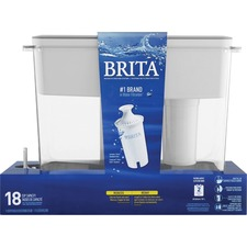 Brita Water Filtration System Dispenser - 4.32 L - Clear, White