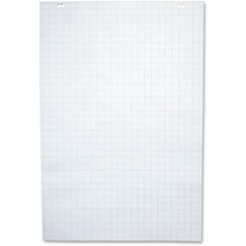 "NCR Paper 50-Sheet 1"" Ruled Paper Easel Pad - 50 Sheets - 2 Hole(s) - 24"" x 35 1/2"" - White Paper - 5 / Carton"