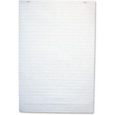 "NCR Paper 50-sheet 1"" Ruled Paper Easel Pad - 50 Sheets - 2 Hole(s) - 24"" x 35 1/2"" - White Paper - 1Each"