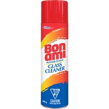 SC Johnson Bon Ami Power Foam Glass Cleaner - Concentrate Foam Spray - 560 g - 1 Each - Assorted