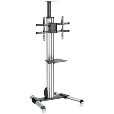 """StarTech.com Heavy Duty Rolling Portable TV Cart Stand with Wheels - 32 to 75 inch - Adjustable Rotating Mobile Flat Panel Screen Mount (STNDMTV70) - Create a mobile media center with this TV cart, supporting a 32"""" to 75"""" flat-screen TV - Portable AV cart"""