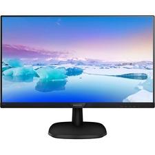 "Philips V-line 243V7QJAB 23.8"" Full HD WLED LCD Monitor - 16:9 - Textured Black - 1920 x 1080 - 16.7 Million Colors - 250 cd/m² - 5 ms GTG - HDMI - VGA - DisplayPort - Speaker"