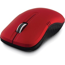 Verbatim Wireless Notebook Optical Mouse, Commuter Series - Matte Red - Optical - Wireless - Radio Frequency - Matte Red - 1 Pack - USB Type A - 1200 dpi - Scroll Wheel - Symmetrical