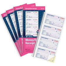 ABFSC1152PK - Adams Spiral 2-part Money/Rent Receipt Book