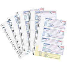 ABF SC1182PK Adams Spiral-bound 2-part Receipt Book ABFSC1182PK