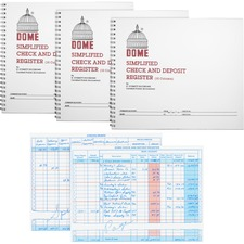 DOM 210BD Dome Publishing Check/Deposit Register DOM210BD