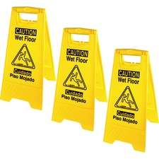 GJO 85117BD Genuine Joe Universal Bilingual Wet Floor Sign GJO85117BD